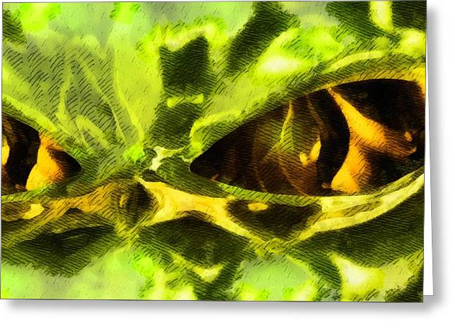 Alien Eyes By Rt Greeting Card by Raphael Terra