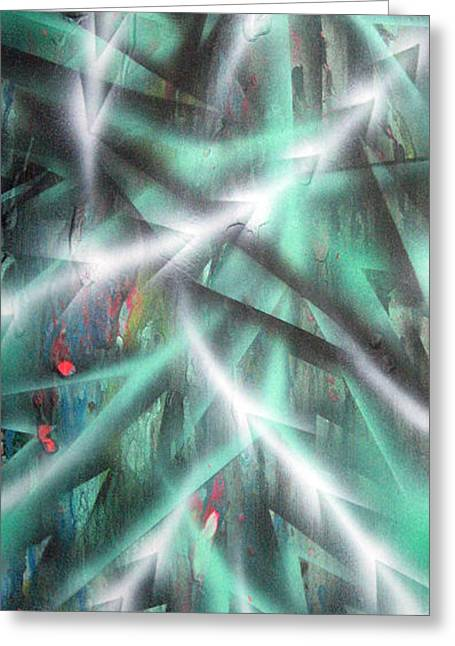 Alien Forest Greeting Card by Leigh Odom