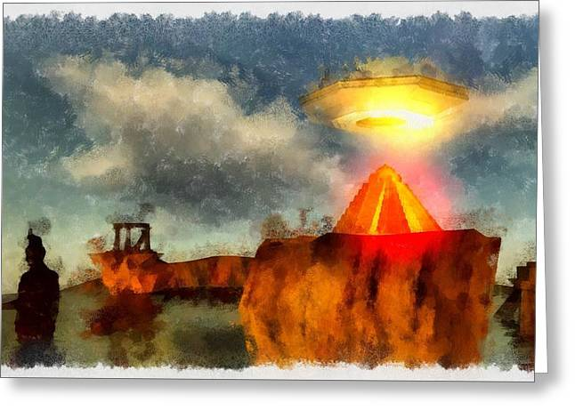 Alien Home Planet Greeting Card