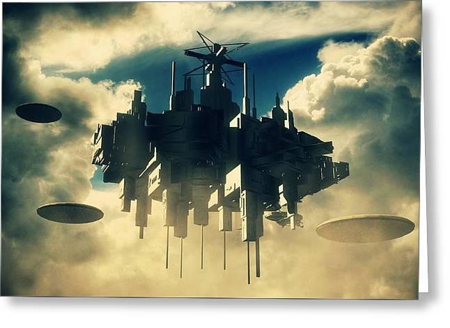 Alien Invasion By Raphael Terra Greeting Card