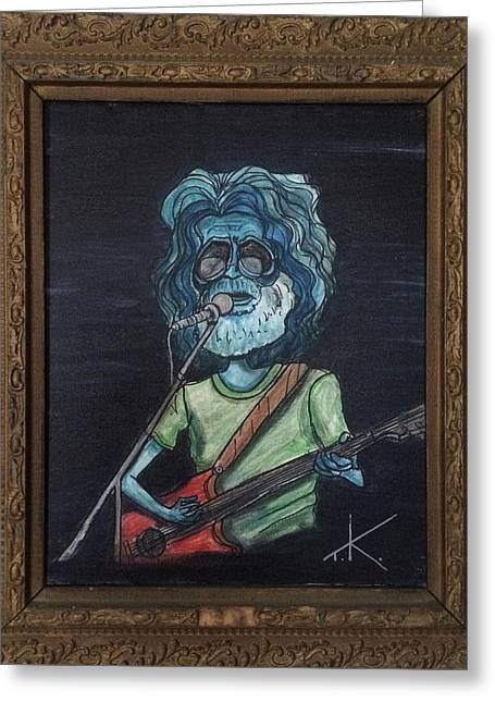Alien Jerry Garcia Greeting Card