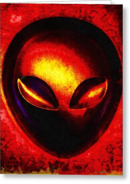 Alien Memory Greeting Card