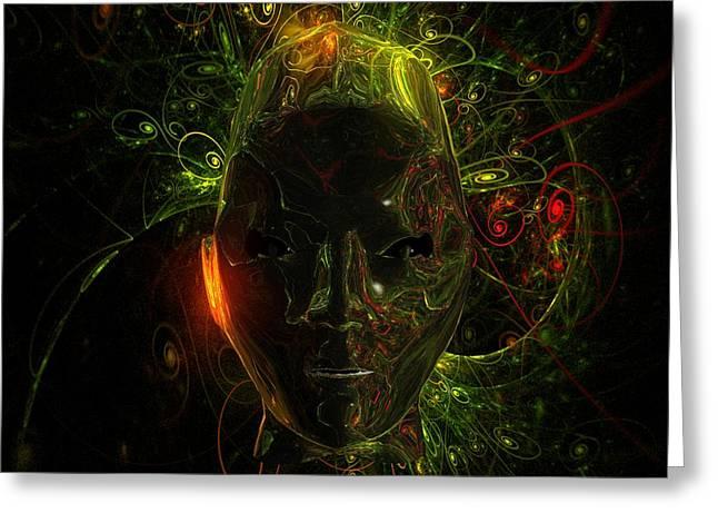 Alien Mindscape By Raphael Terra Greeting Card