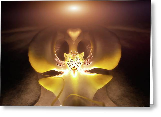 Alien Orchid Greeting Card by Wim Lanclus