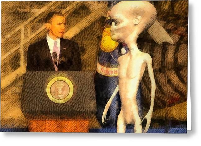 Alien President Greeting Card