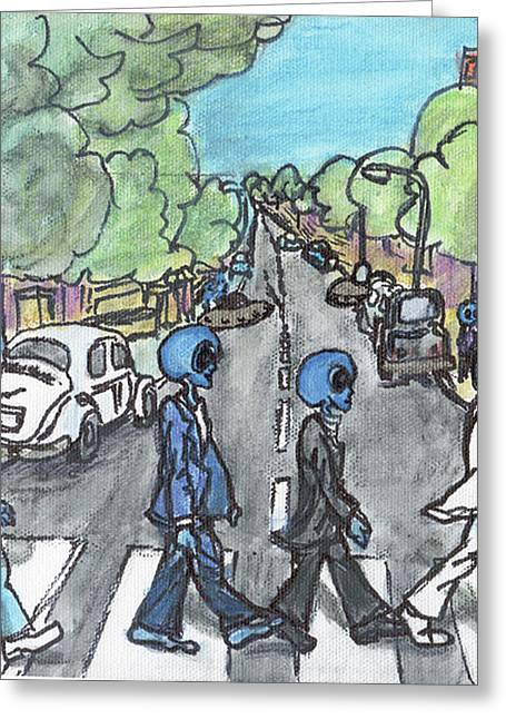 Alien Road Greeting Card