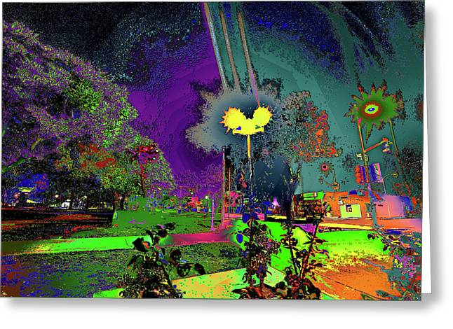 Alien Station 1031 To The Sun Greeting Card by Kenneth James