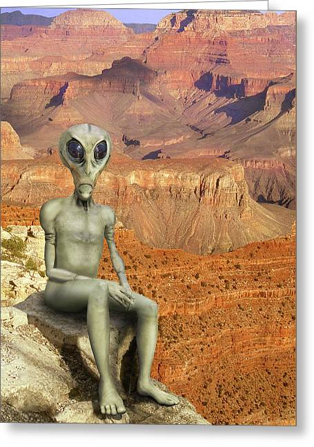 Alien Vacation - Grand Canyon Greeting Card by Mike McGlothlen