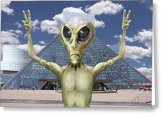Alien Vacation - R And R Hall Of Fame Greeting Card