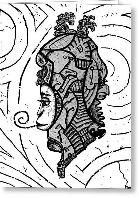 Alien Woman Greeting Card