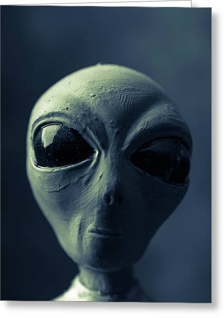 Alien X-files Phone Case Greeting Card by Edward Fielding
