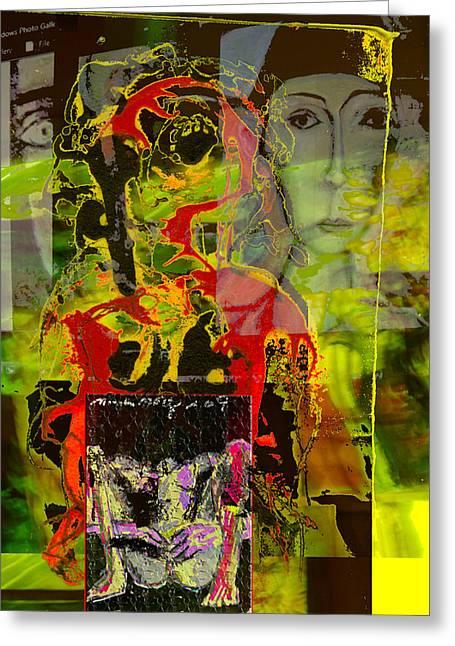 Alienation Greeting Card by Noredin Morgan