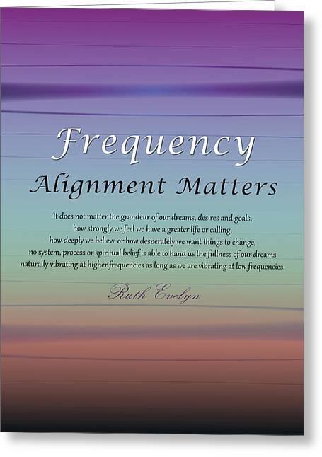 Alignment Matters Greeting Card