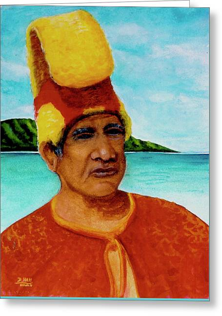 Alihi Hawaiian Name For Chief #295 Greeting Card by Donald k Hall