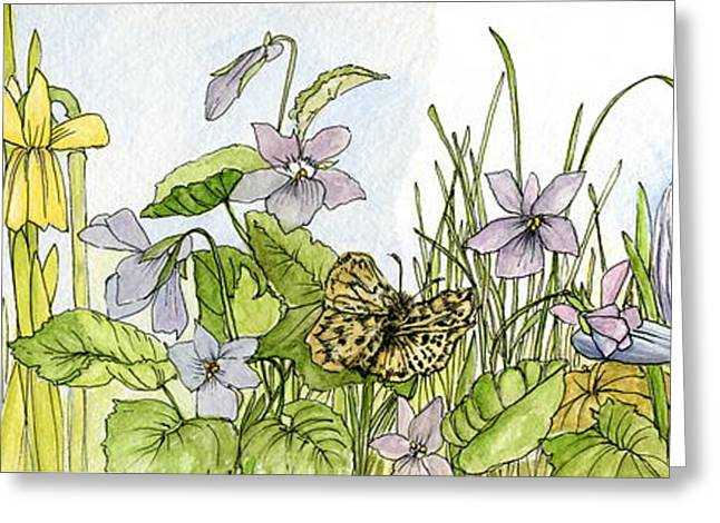 Alive In A Spring Garden Greeting Card