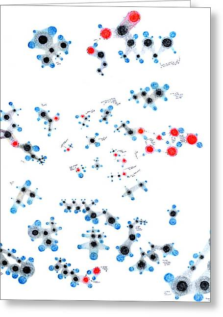 Alkanes And Friends Greeting Card