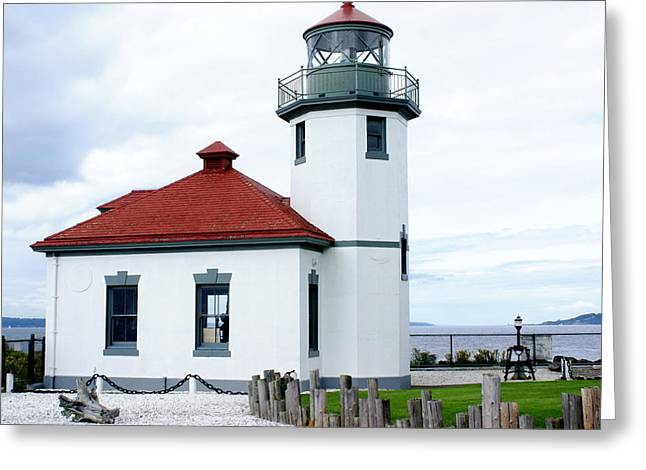Alki Light Greeting Card by Sonja Anderson