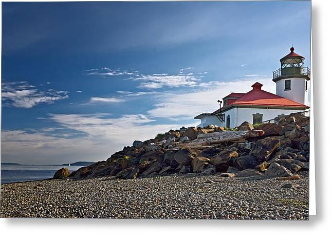 Alki Point Lighthouse Greeting Card