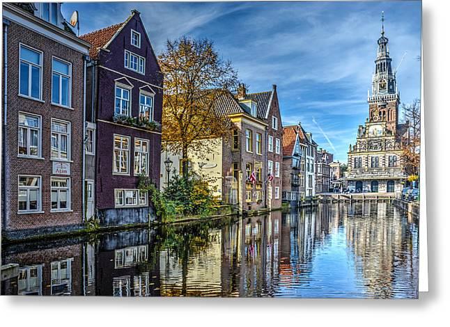 Alkmaar From The Bridge Greeting Card