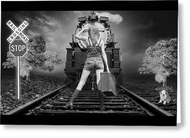 All Aboard The Train Greeting Card