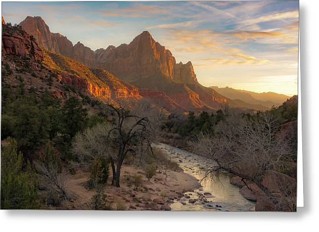 All Along The Watchman Greeting Card by Peter Irwindale