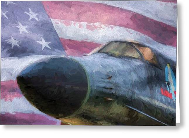 All American Bomber Greeting Card