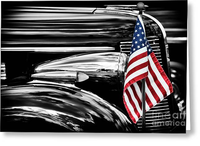 All American Buick Greeting Card by Tim Gainey