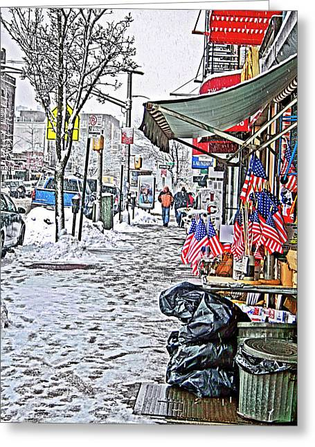 All American Snow Greeting Card by Terry Cork