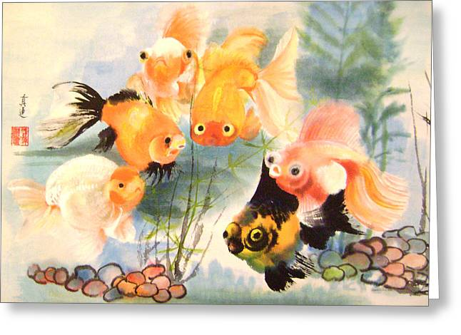 All Are Curious Greeting Card by Lian Zhen