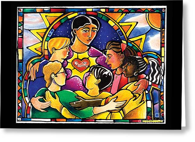 All Are Welcome - Mmaaw Greeting Card