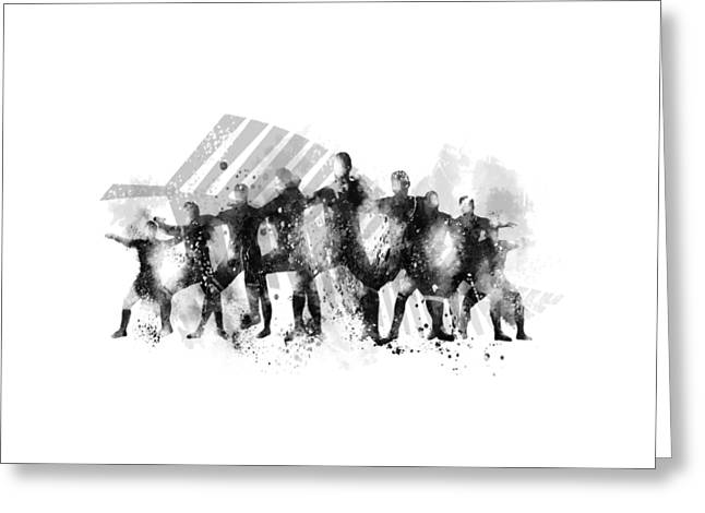 All Blacks Haka Greeting Card