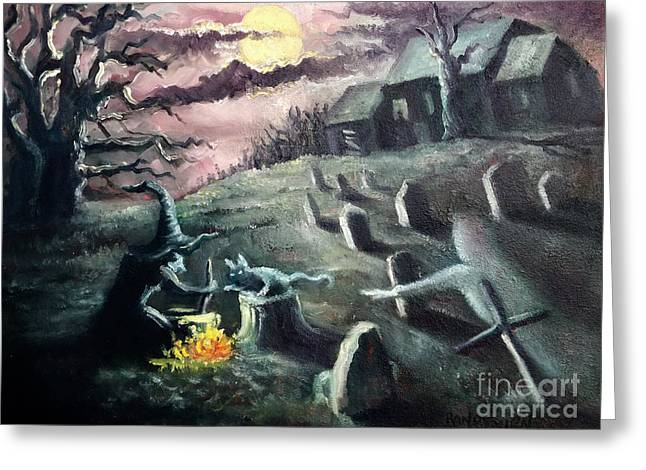 All Hallow's Eve Greeting Card by Randy Burns