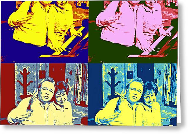 All In The Family Pop Art Greeting Card by Pd