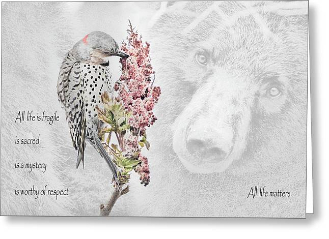 All Life Matters Greeting Card