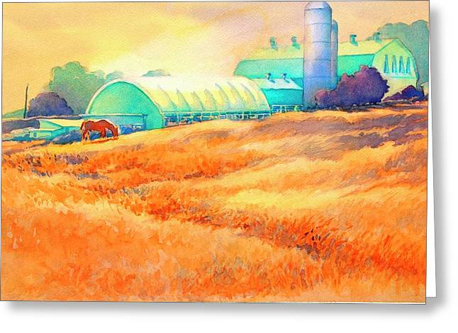 All My Friends Are In The Barn Greeting Card by Virgil Carter
