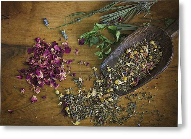 Herbal Tea Greeting Cards - All Natural Greeting Card by Heather Applegate