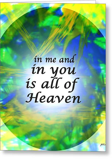 All Of Heaven Greeting Card