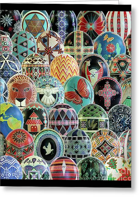 All Ostrich Eggs Collage Greeting Card