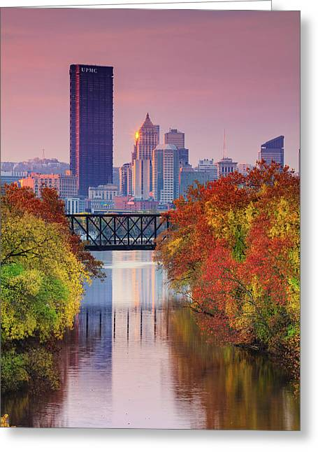All Pittsburgh Pink  Greeting Card