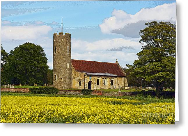 All Saints Frostenden. Greeting Card by Stan Pritchard