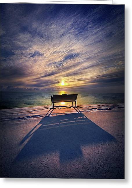 All Shadows Chase Swift Greeting Card by Phil Koch