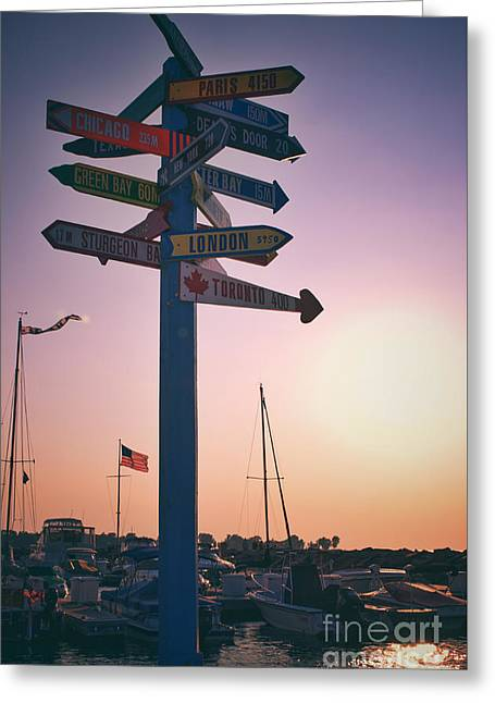 All Signs Point To Sunset Greeting Card by Mark David Zahn Photography