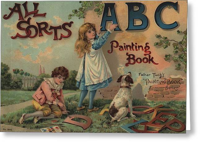 All Sorts Abc Painting Book Greeting Card by Reynold Jay