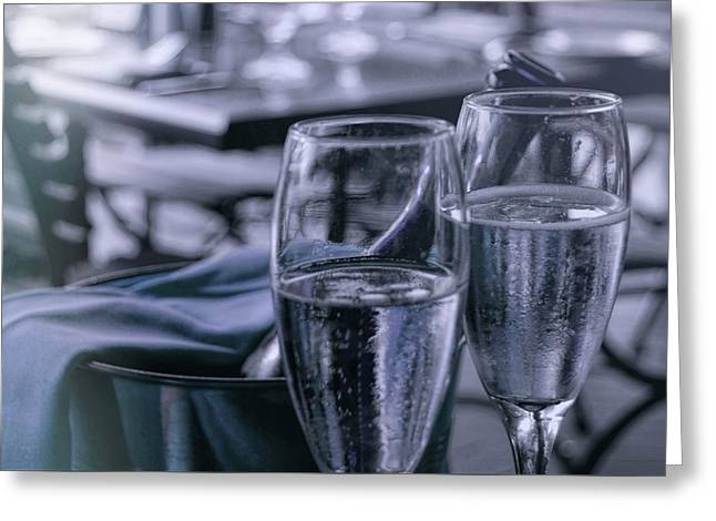 All Sparkling Blue Greeting Card by JAMART Photography