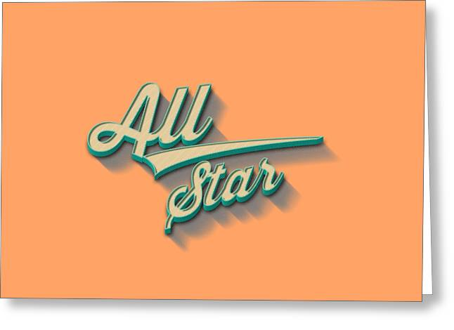 All Star Tee Greeting Card