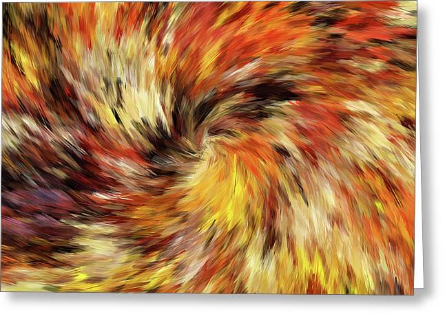 All The Colors Of An Autumn Day Abstract Greeting Card by Georgiana Romanovna