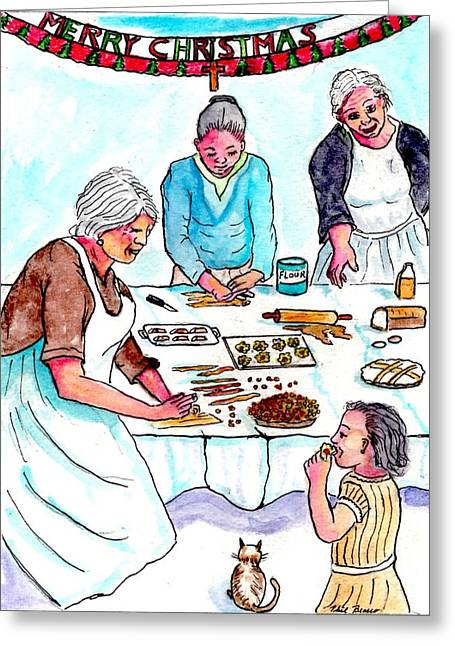All The Girls Baking For Christmas Greeting Card