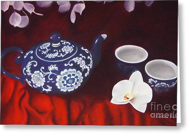 All The Tea In China Greeting Card by Colleen Brown