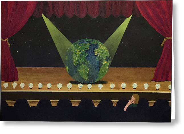 All The World's On Stage Greeting Card by Thomas Blood