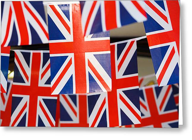 Greeting Card featuring the photograph All Things British by Digital Art Cafe
